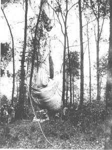 Captain Gray's balloon was found outside of Sparta, near Doyle TN.