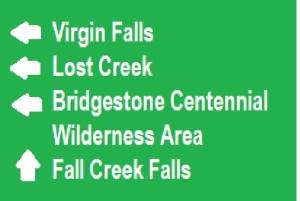 virgin falls sign